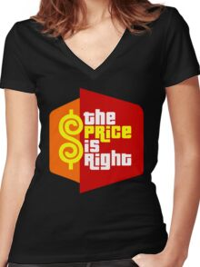 The Price is Right Women's Fitted V-Neck T-Shirt