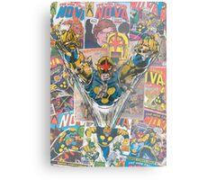 Vintage Comic Nova Metal Print