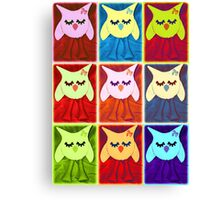 funky owls Canvas Print