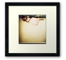 And I can't face the evening straight. You can offer me escape. Houses move and houses speak. Framed Print