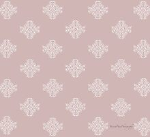 Pink Damask by Yannik Hay