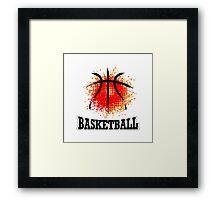 Vector Grunge Basketball Framed Print