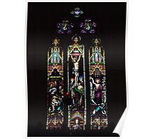 Window of Christ Church Anglican Cathedral, Ballarat, Victoria Poster
