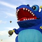 blue dragon hot air balloon by Jamie Roach