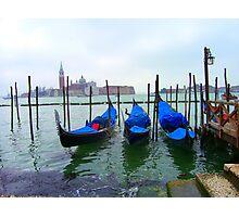 Venetian Gondolas Photographic Print