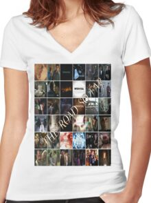 The Road So Far... Women's Fitted V-Neck T-Shirt