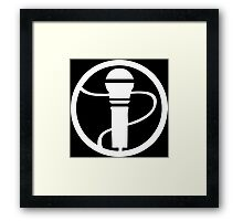 Microphone Design Framed Print