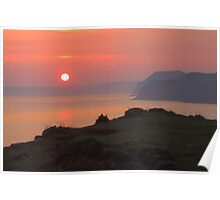 Sunset From Jurassic Coast Poster