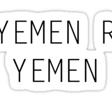 15 Yemen Road, Yemen Sticker