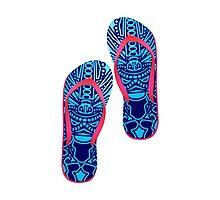 Beach Sandals ( tiki masks design )  by orgus88