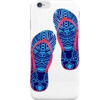 Beach Sandals ( tiki masks design )  iPhone Case/Skin