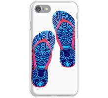 Beach Sandals ( tiki masks design )  iPhone Case/Skin