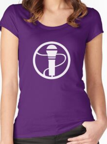 Microphone Design Women's Fitted Scoop T-Shirt