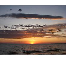 Early Morning Sunrise Over The lake Photographic Print
