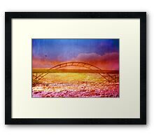The River is Rising Framed Print