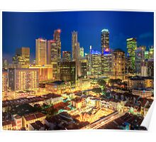 Singapore Central Business District Area Poster
