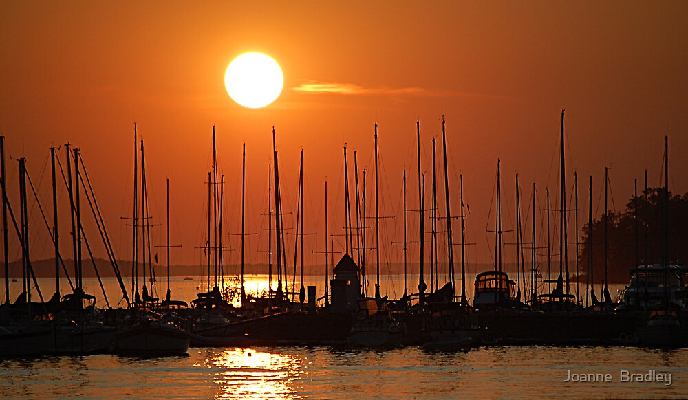 Sunset Over The Marina by Joanne  Bradley