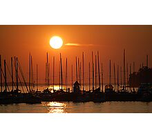 Sunset Over The Marina Photographic Print