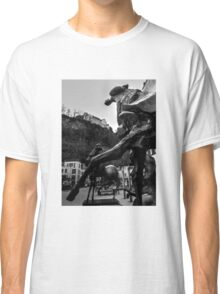 Sculptures And The Royal Palace Vaduz Liechtenstein Classic T-Shirt