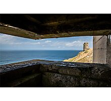 WWII Bunker view  Photographic Print
