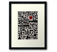 Love Labyrinth Framed Print