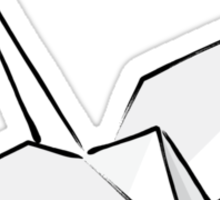 Paper Crane Color Sticker