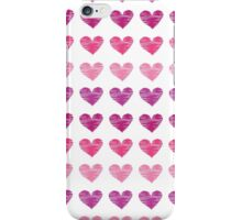 Pink Heart Ink Print iPhone Case/Skin