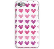 Pink Heart Ink Print iPhone Case/Skin