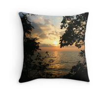 Pelee sunset Throw Pillow