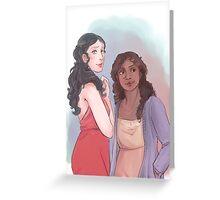 Morgana and Gwen Greeting Card