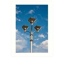 Triple Street Lamp Art Print