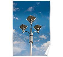 Triple Street Lamp Poster