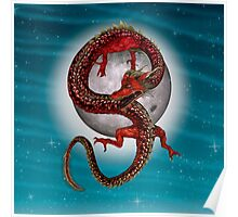 Eastern Red Dragon Poster