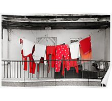 Red laundry Poster
