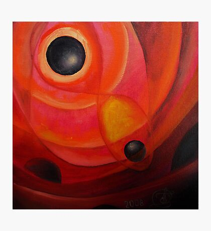 Oil Painting - Abstract Red and Black, 2008 Photographic Print