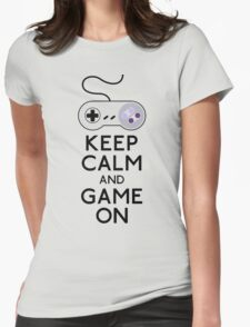 keep calm and game on Womens Fitted T-Shirt