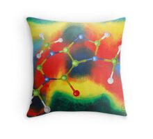 Oil Painting - Caffeine Molecule 2003 Throw Pillow