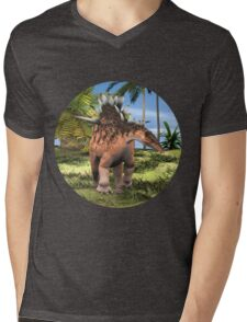 Dinosaur Kentrosaurus Mens V-Neck T-Shirt