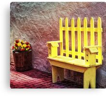 The Bird House Bench Canvas Print