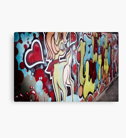 melbourne grafitti 2009 Canvas Print