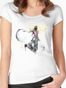 Princess Graffiti Women's Fitted Scoop T-Shirt