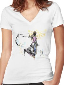 Princess Graffiti Women's Fitted V-Neck T-Shirt