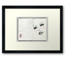 find me in  your dream tonight.... Framed Print
