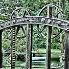 Chewton Keynsham Bridge Sluice Gate. by Clive Lewis-Hopkins.