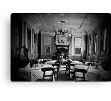 formal dining Canvas Print