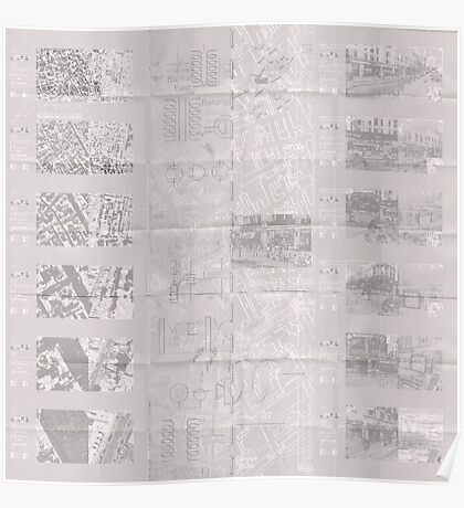 140 Regent St - Faux-Drawing Map Poster