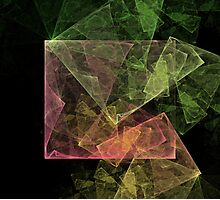 Abstract Art Cubic Space Photographic Print