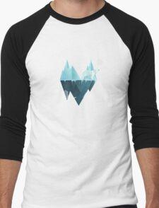 Low Poly Polar Bear Men's Baseball ¾ T-Shirt