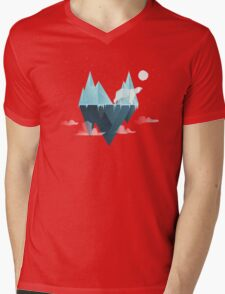 Low Poly Polar Bear Mens V-Neck T-Shirt