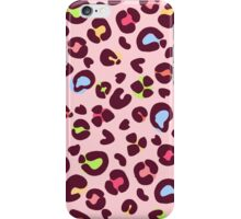Pink Tiger spots pattern - colorfull  iPhone Case/Skin